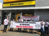 Protesto dos bancários em Rio Verde-GO