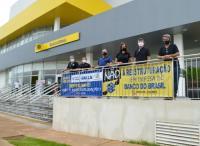 Protesto dos bancários em Palmas-TO