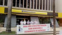 Protesto dos bancários em Goiânia-GO